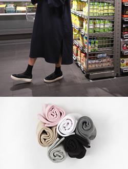 베이직골지 socks(6col)