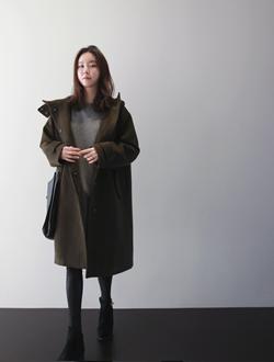 어렌트후드 coat(울혼방)(입고지연)
